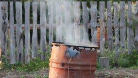 Dym od ogienia zdjęcie wideo