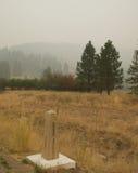 Dym od Stickpin ogienia Obraz Royalty Free