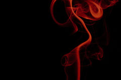 Dym odizolowywający na czarny tle Zdjęcia Royalty Free