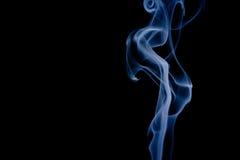 Dym odizolowywający na czarny tle Zdjęcie Stock