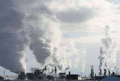 dym przemysłowe Obrazy Royalty Free