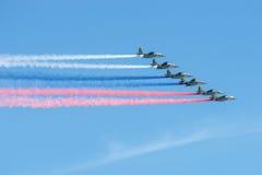 Dym w kolorach flaga Zdjęcie Royalty Free