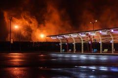 Dym W nocy Obraz Royalty Free