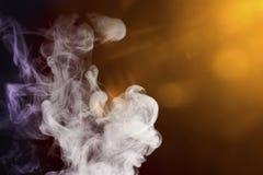 Dym z barwionymi światłami Zdjęcia Stock