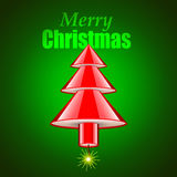 Dymanite stick as Christmas tree holiday concept Royalty Free Stock Images