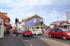 Dymchurch storgatan Kent England UK Fotografering för Bildbyråer