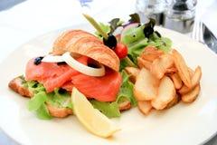 dymiąca łososiowa kanapka Obraz Stock