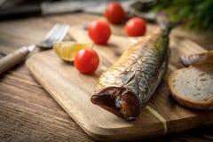 dymiąca chlebowa makrela obraz royalty free