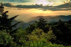 Dymiące góry Niebiańskie Obraz Royalty Free