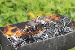 Dymiący łupkę w brązowniku i płonący Obraz Royalty Free