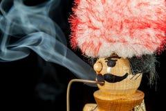 Dymić drewnianego mężczyzna Zdjęcie Stock