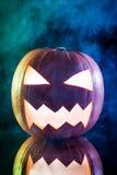 Dymić straszną Halloween bani głowę Obrazy Royalty Free