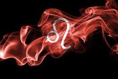 Dymiący Leo zodiaka astrologii znak dla horoskopu Zdjęcie Stock