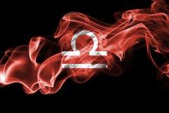 Dymiący Libra zodiaka astrologii znak dla horoskopu Zdjęcia Royalty Free