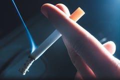 dymiący papieros Zdjęcie Royalty Free