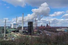 Dymić gasi wierza koksownia Fotografia Royalty Free