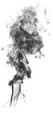 Dymi na białej tło abstrakcjonistycznej sztuki tekstury mgle Element dla kreatywnie projekta obrazy royalty free
