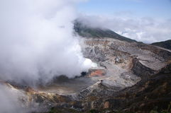 Dymienia Poas wulkan Fotografia Royalty Free