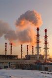 Dymienie drymby termiczna elektrownia Obraz Stock
