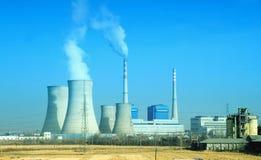 Dymienie drymby termiczna elektrownia Fotografia Royalty Free