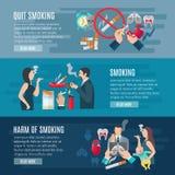 Dymienie sztandaru set ilustracji