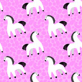 Dymkovo toy horse Stock Images