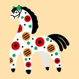 Dymkovo toy horse Stock Photography