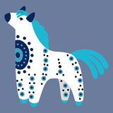 Dymkovo toy horse Royalty Free Stock Image