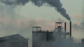 Dymny iść w atmosfera przemysł ciężkiego zbiory