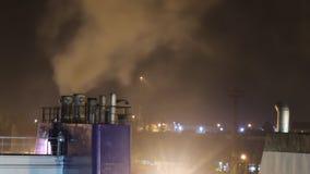 Dymny przybycie od kominu statek zdjęcie wideo