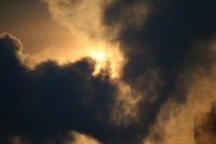 dymny słońce Zdjęcie Royalty Free