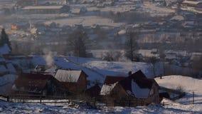 Dymny wioski zimy dom zbiory
