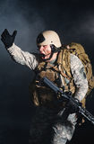dymny wybuchu żołnierz Obraz Royalty Free