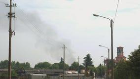 Dymny wydźwignięcie od odległości blisko sanktuarium w Włochy zbiory
