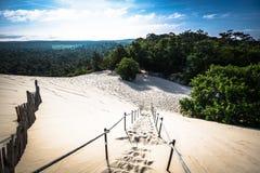 Dyn du Pyla - den största sanddyn i Europa, Aquitaine, franc royaltyfria bilder