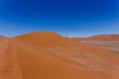 Dyn 45 i sossusvleien Namibia Arkivbilder