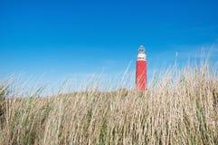 Dyn och fyr i Texel fotografering för bildbyråer