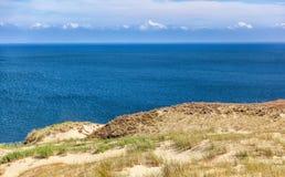 Dyn på kusten av Östersjön, Neringa, Litauen Royaltyfri Foto