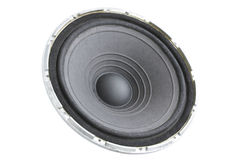 Dynamic. Black dynamic loudspeaker/the musical acoustic equipment Royalty Free Stock Images