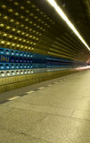 Dynamic. Underground station with subway comming up Royalty Free Stock Image
