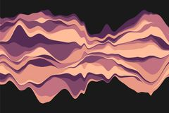 Dynamic abstract background with color waves. Vector illustration. Abstract background with dynamic effect. Color waves vector illustration