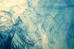 Dynamic abstract blue background. With flowing lines, tendrils, fluidity and movement Royalty Free Stock Photo