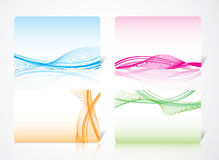 Dynamic abstract card Stock Photography