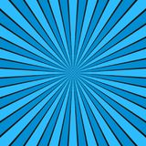 Dynamic abstract sun rays background - comic vector graphic design from radial stripe pattern. Dynamic abstract sun rays background - light blue comic vector vector illustration