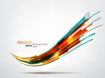 Dynamic background. Dynamic colorful wave. EPS10 vector abstract background Royalty Free Stock Photography