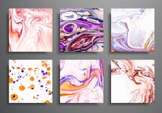 Dynamic backgrounds. trendy placards, commercial covers set. Marble colorful effect. Abstract page poster template for. Catalog, creative abstract brochure vector illustration