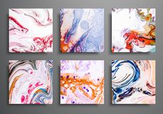 Dynamic backgrounds. trendy placards, commercial covers set. Marble colorful effect. Abstract page poster template for. Catalog, creative abstract brochure stock illustration