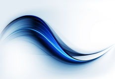 Dynamic blue abstract motion on white Stock Image