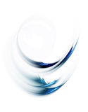 Dynamic blue circular motion on white. Dynamic blue abstract background, wavy circular motion on white background Royalty Free Stock Photo