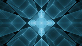 Dynamic blue cubes  in perspective on black background Stock Photography